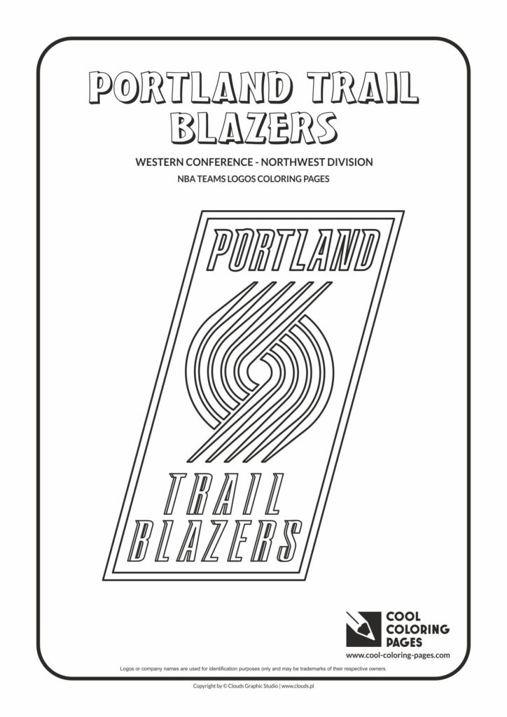 Cool Coloring Pages Portland Trail Blazers Nba
